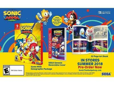 Sonic Mania Plus Limited Launch Edition Nintendo Switch NEW SEALED + FREE SHIP