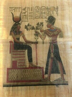 "Ancient Egyptian Papyrus Large 17""x 25""     P21"
