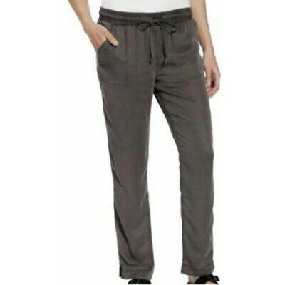 NWT Womens Size Large Calvin Klein Gray Pull On Tencel Stretch Pants VTG Style