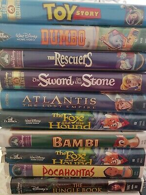 Lot Of 20 Disney VHS Movies used