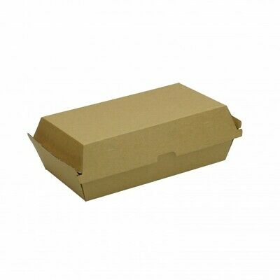 Kraft Corrugated Cardboard Snack Boxes - 250mm - 55mm base - 75mm closed - Large