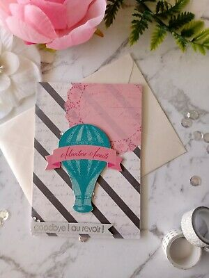 Handmade Card ~ Farewell ~ Goodbye Au Revoir