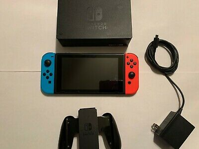 Nintendo Switch HAC-001(-01) 32GB Console with Blue and Red Joycons