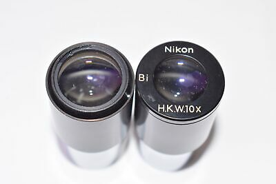 Pair of Nikon H.K.W.10x Bi Objective Microscope Lens Pieces