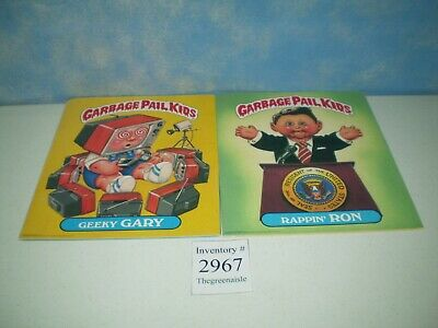 "New 1985 Garbage Pail Kids Folders Rappin' Ron, Geeky Gary S:11 3/4"" x 9 3/4"""