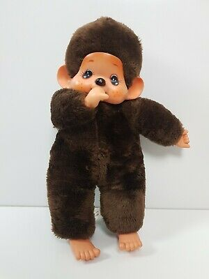 Vintage Lg Monchichi Doll Monkey 42cm Sucking Thumb Plush Collectable Joy Time