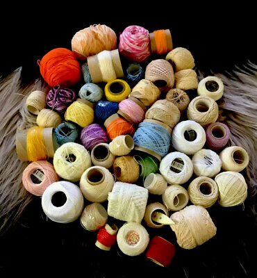 Mercer + Other Cotton Thread Balls Different Brand And Sizes Bulk Lot See Photos