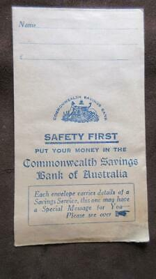 1950's Circa Commonwealth Savings Bank of Australia Pay Envelope with Name & Add