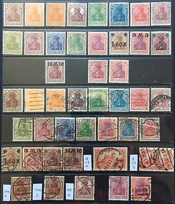 Germany 1920-1921 Germania issues Type/Colour Variations MNH/MLH & Used