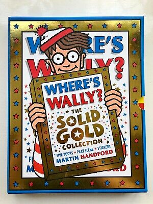 WHERE'S WALLY? The Solid Gold Collection - Five Books Boxset & Stickers