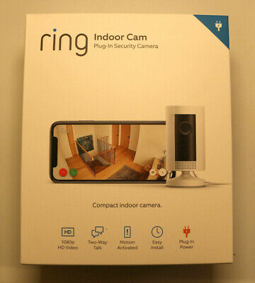 Ring Indoor 1080p Wi-Fi Security Camera Two Way Talk - White - Works With Alexa