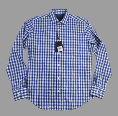 Bugatchi Shirt Small Mens Long Sleeve Button Front Shaped Fit Floral $149.00
