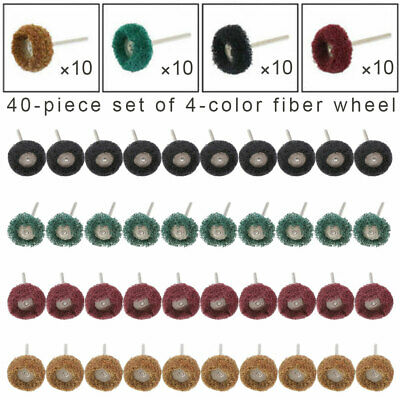 40x Abrasive Wheel Buffing Polishing Wheel Set For Dremel Rotary Tools Drill Bit