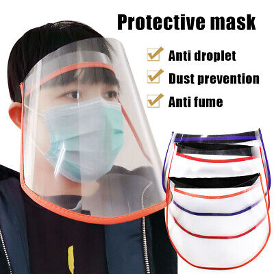 Full Face Covering Shield Plastic Anti-fog Protective Dust-proof Safety Cover