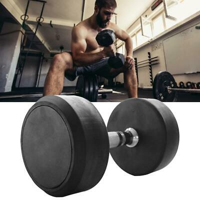 1pc Professional Dumbbell Rubber Encased Weights Dumbbell Gym Fitness Equipment