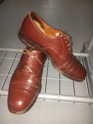 Original Vintage 1940's Men's Brown Shoes