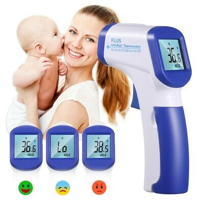 No Touch Digital IR Infrared Forehead Thermometer Gun Adult Body Temperature US