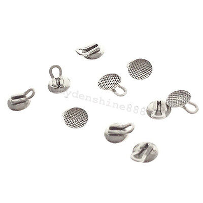 10Pc 3mm/0.12' Dental Lingual Button Ring Orthodontic Oral Brace Molar Mesh Base
