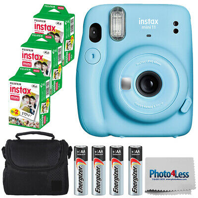 Fujifilm Instax Mini 11 Instant Camera | Twin Pack Film 3X | Batteries | Case