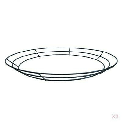 Set Of 3 Metal Wreath Form, 16 Inches/ 40Cm, Wire Frame