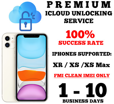 Premium iCloud / Activation Lock Removal Service iPhone XR, XS, XS Max (READ)