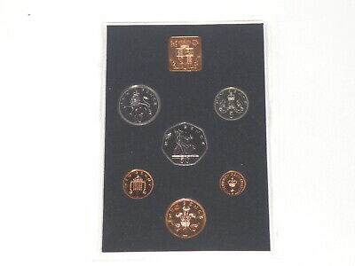 1976 U.K. ROYAL MINT PROOF COIN SET - FIFTY PENCE to HALPENNY COINS (PH02)