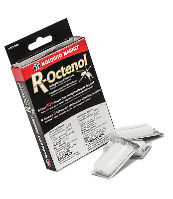 R-Octenol attractant by squito Magnet - contains 3 x ROCT3UK Cartridges (New