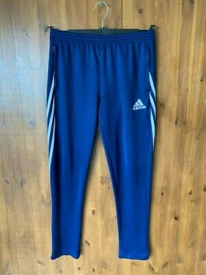 ADIDAS JOGGERS Navy Blue Tracksuit Bottoms Boys XL / 13-14 Years - VGC