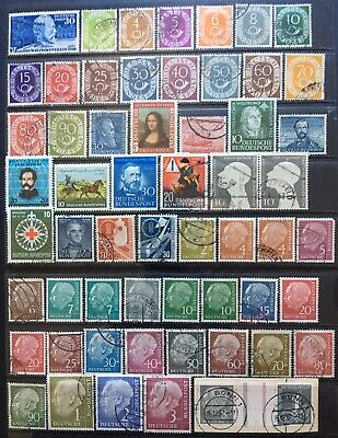Germany (Bund) 1949-1954 issues MLH & Used