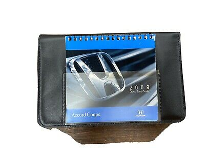 2009 Honda Accord Coupe Owners Manual Guide Book Set With Case Oem
