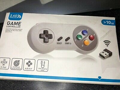 Wireless/Wired Advanced D-Pad Game Controllers Multi-Device USB RF 2.4 GHz