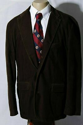 J. Crew Men's Brown Cotton Corduroy Sport Coat Jacket Blazer Size XL (48R)