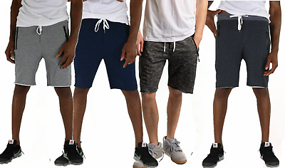 Mens Heavyduty Shorts Authentic Cotton 9-Inch Men's Jersey Shorts with Pockets
