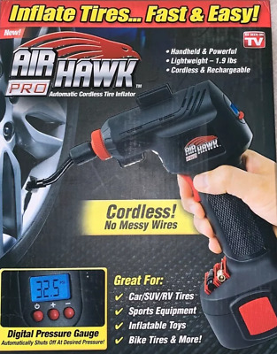 Air Hawk Pro Cordless Tire Inflator ,  Ontel As Seen On Tv
