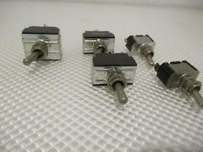 One Used Lot Of 5 Carling Toggle Switches.