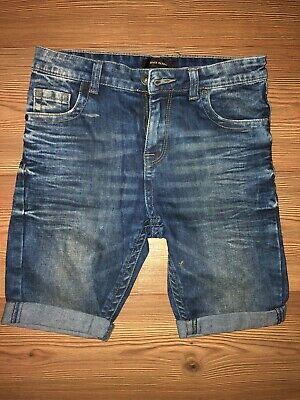Boys River Island Blue Denim Skinny Shorts Age 10 Ex.Con