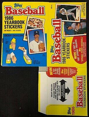 1986 Topps Baseball Yearbook Flattened Empty Sticker Box Panini