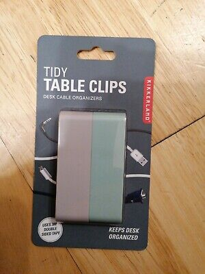 Tidy Table Clips, New In Original Packaging