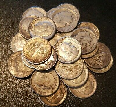 Roosevelt Silver Dimes (5 each) Free Shipping