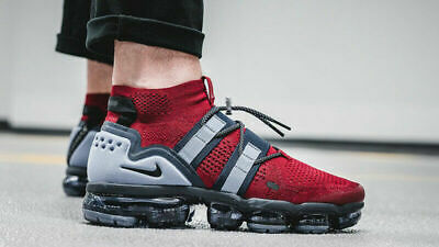 Nike Air VaporMax Flyknit Utility Shoes Red Obsidian AH6834-600 Men's NEW