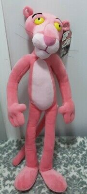 """2003 24"""" Plush  Pink Panther Poseable Stuffed Toy With Tags"""