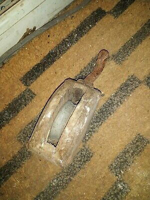 Vintage Antique Wooden Block And Tackle, Pulley, Single Channel