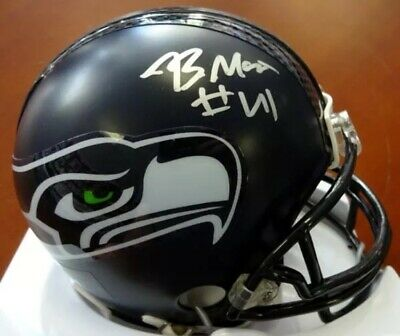 NFL Seattle Seahawks Byron Maxwell signed mini helmet - COA Legion Of Boom
