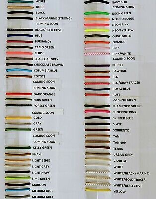 """1/8"""" Bungee Shock Cord Many Colors Cut by the Foot"""