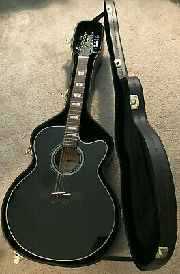 Takamine G-Series G EG523SCB-12 Acoustic/Electric Guitar Black w/ Hardshell Case