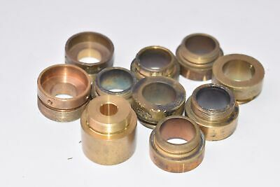 Lot of Objective Microscope Housing Pieces - Brass - For Parts