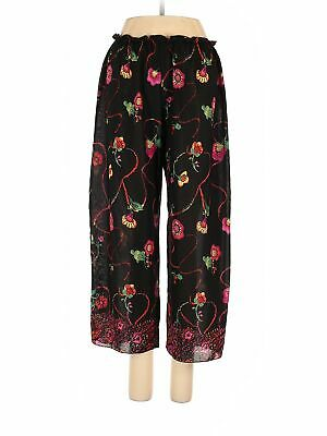Josie Natori Women Black Casual Pants S
