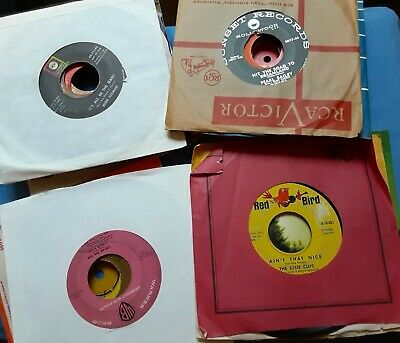 VARIOUS GENRES -45's - LOT OF 37 RECORDS !