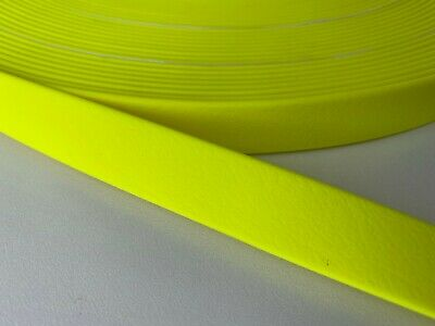 PVC Webbing - HOT YELLOW - 10mm, 13mm, 16mm, 20mm and 25mm available