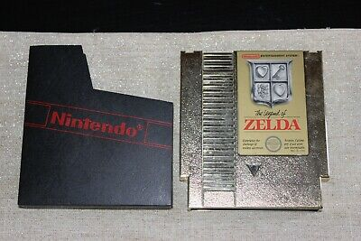 The Legend Of Zelda (Nintendo NES 1987) Golden Cartridge - TESTED